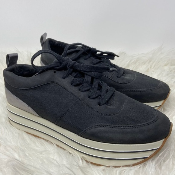 Black and White Platform Sneakers